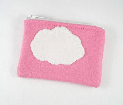 Pink Sky Tiny Treasures Mini Felt Zipper Pouch