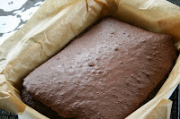 Chocolate Brownie cooked and fresh out of the oven in oven proof dish