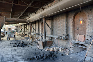 Furnaces or kilns used to fire roof tiles in Beijing