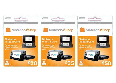 Unified Wii U And 3DS Prepaid Cards