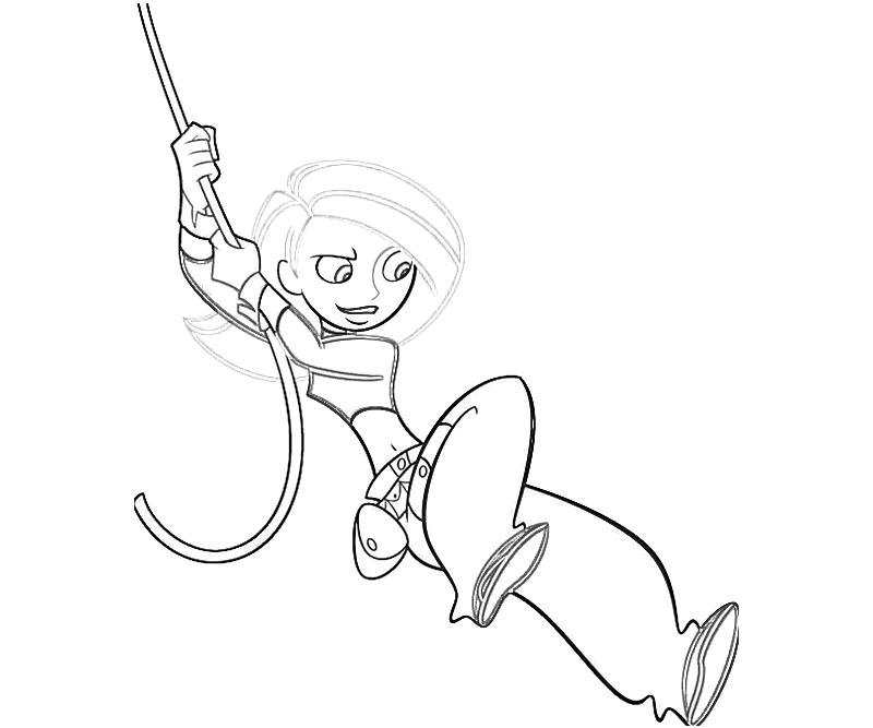 Kim possible character mario for Kim possible coloring pages to print