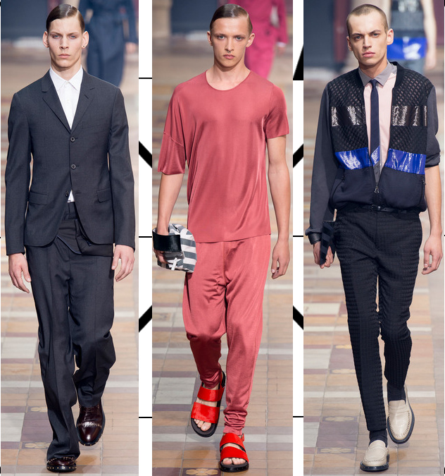 Lanvin Men's Spring 2014 relaxed silhouettes