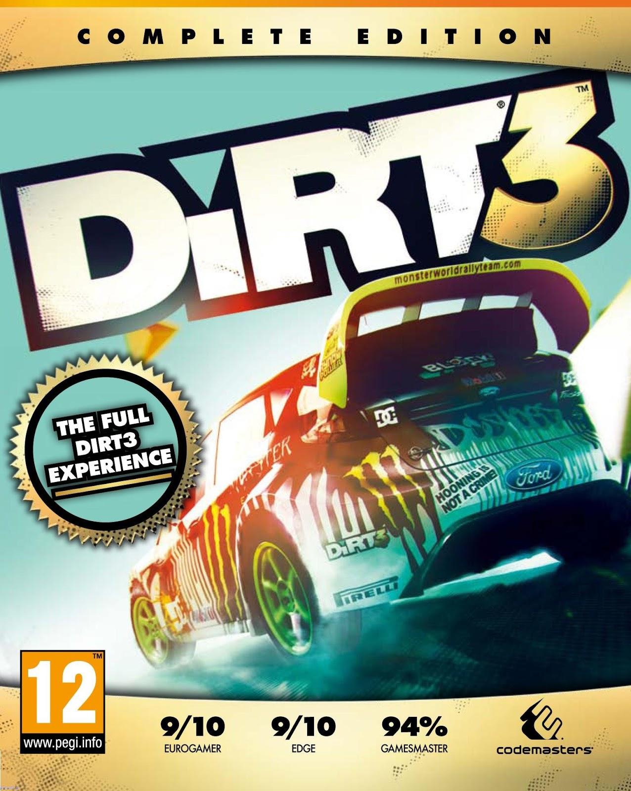 Dirt 3 complete edition как сделать на весь экран