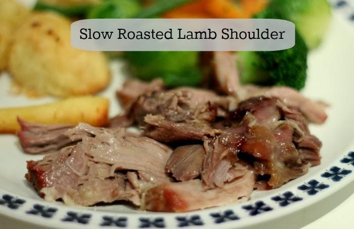 Slow Roasted Lamb Shoulder with Garlic & Rosemary Potatoes - Honey Go ...