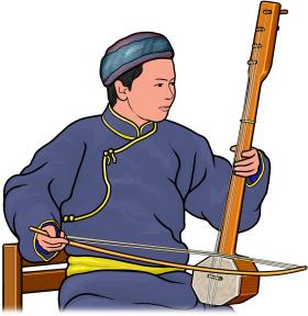 ビザーンチ(ブザーンチウ)を演奏する人