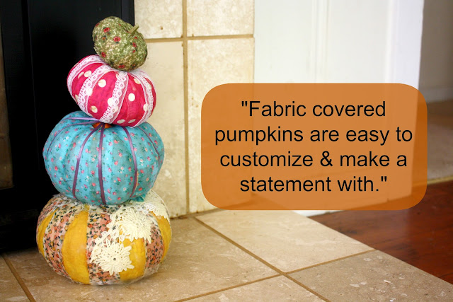 Fabric Covered Pumpkins Diy Maggie Whitley Designs