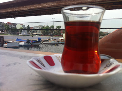 Turkish tea by Bhosphorus, Istanbul