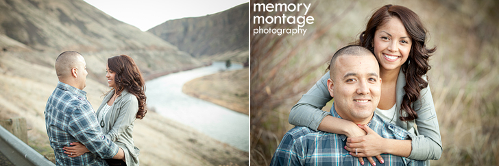 yakima canyon engagement photo by river