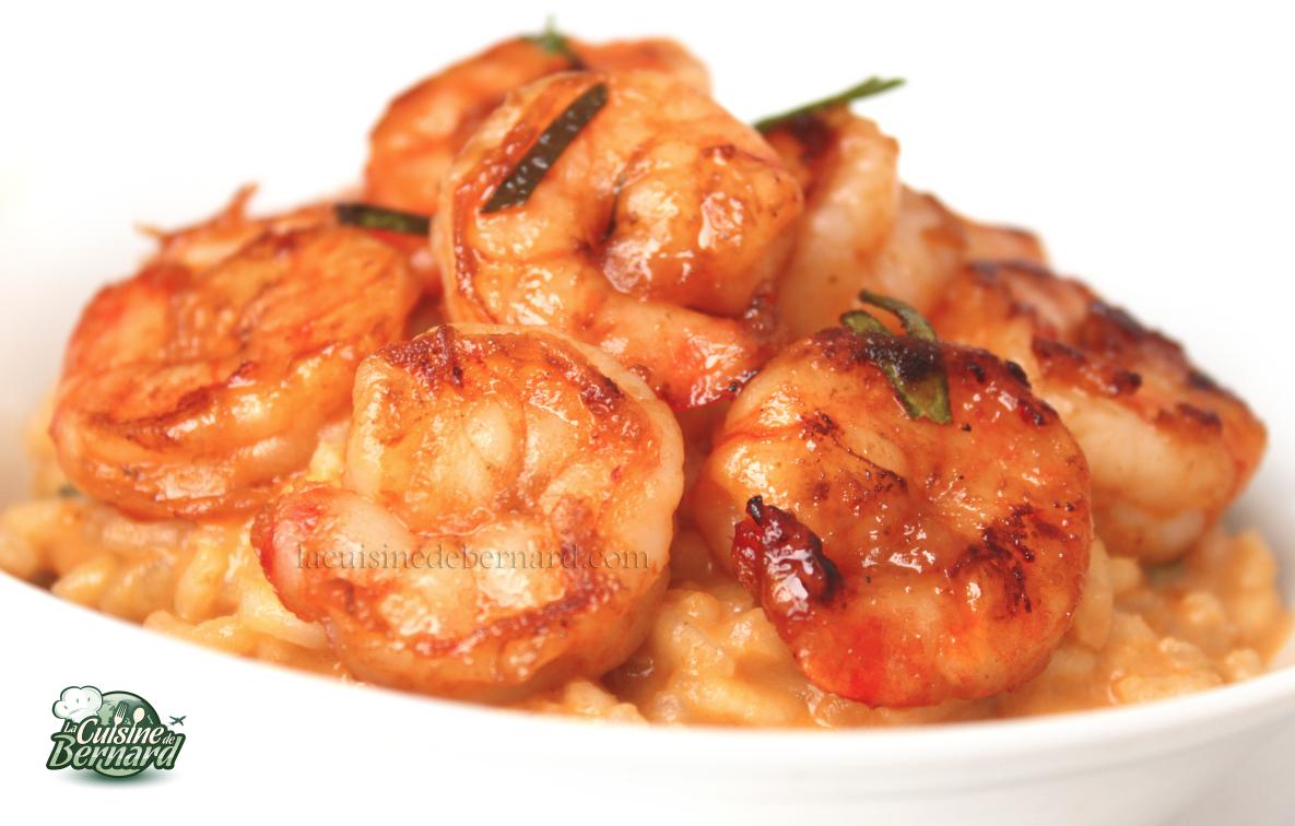 Risotto au Curry Rouge et aux Crevettes