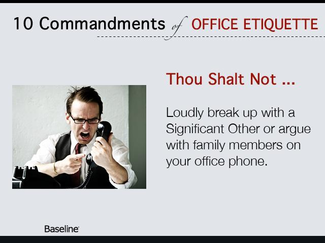 office etiquette