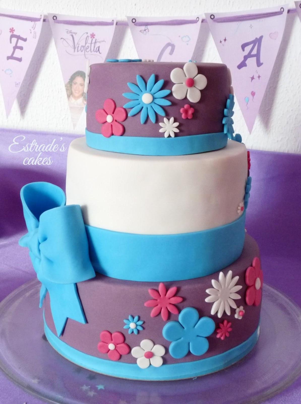 tarta de Violetta para cumpleaños - 4