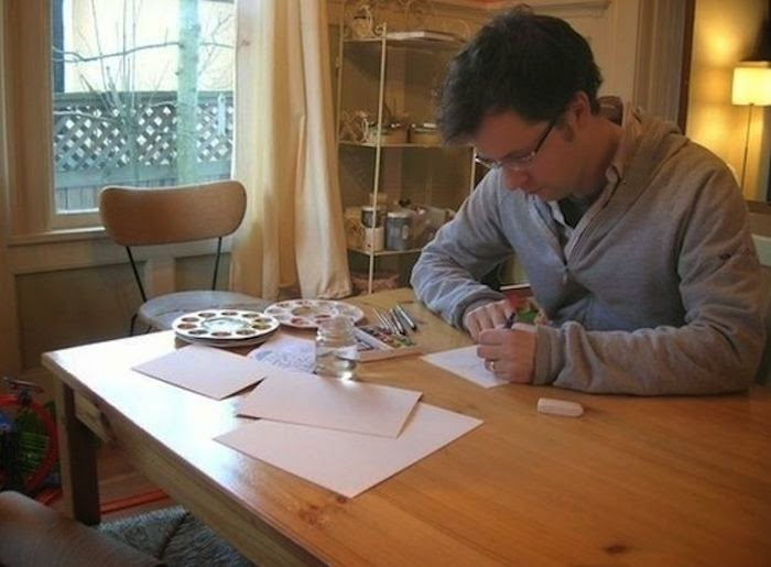 Workspaces Of The Greatest Artists Of The World (38 Pictures) - Marc Johns, illustrator