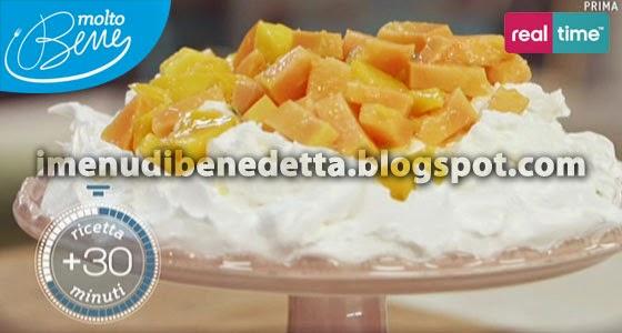 Pavlova alla Frutta Esotica di Benedetta Parodi