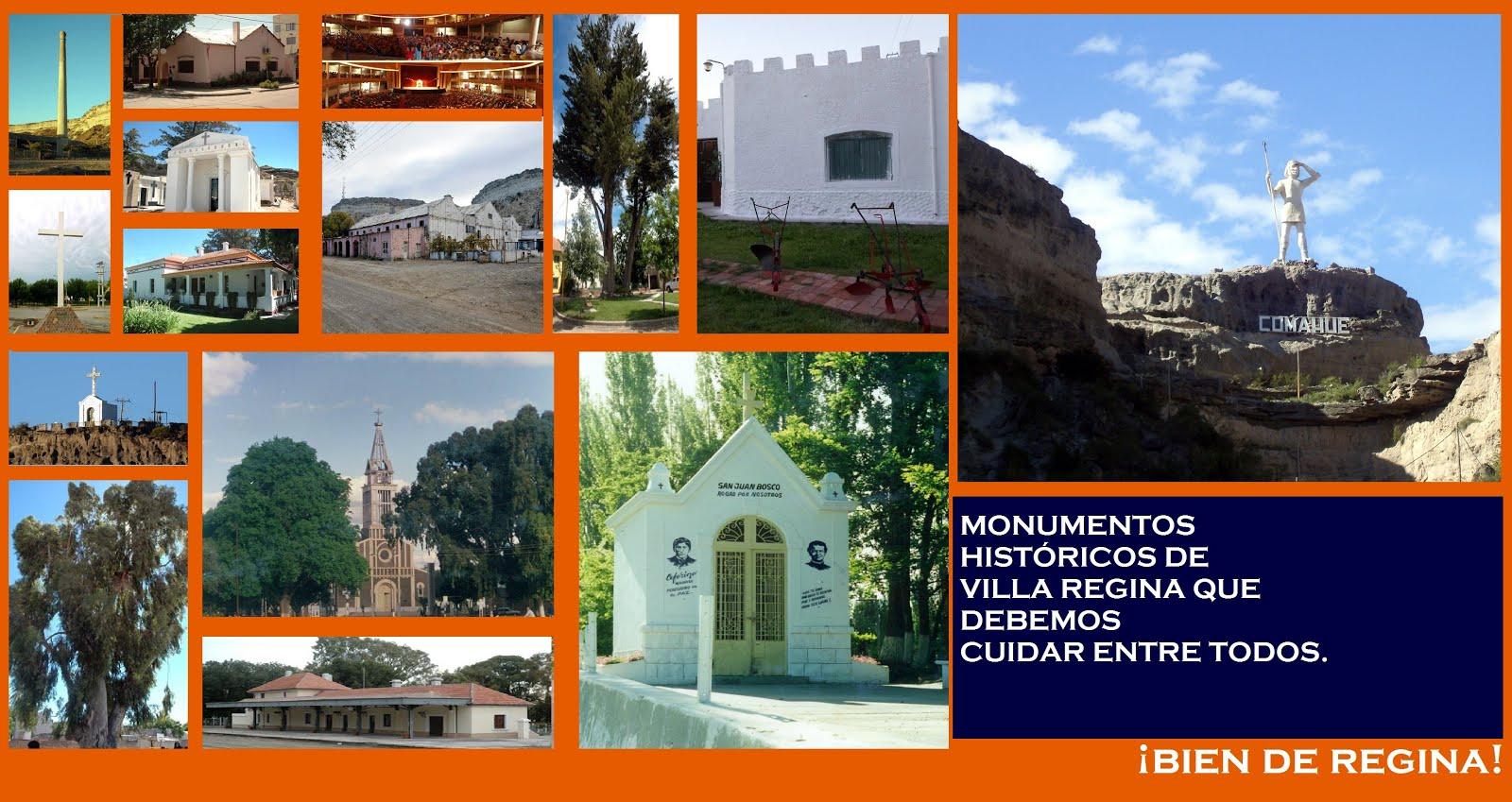 MONUMENTOS DE VILLA REGINA.