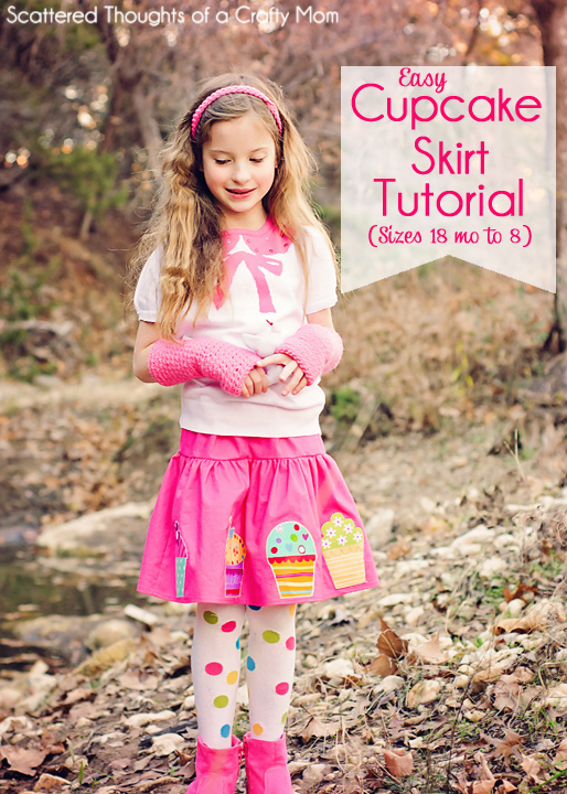 "Instructions to make this adorable appliqued skirt.  Tutorial includes ""pattern"" (measurements) for girls sizes 18 mo to 8.)"