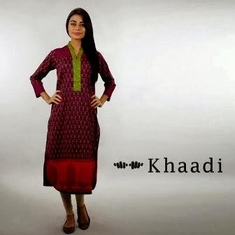 Designs of Khaadi Dresses 2014