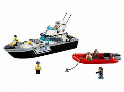 TOYS : JUGUETES - LEGO City  60129 Barco Patrulla de la Policía  Police Patrol Boat  Producto Oficial 2016 | Piezas: 200 | Edad: 5-12 años  Comprar en Amazon España & buy Amazon USA