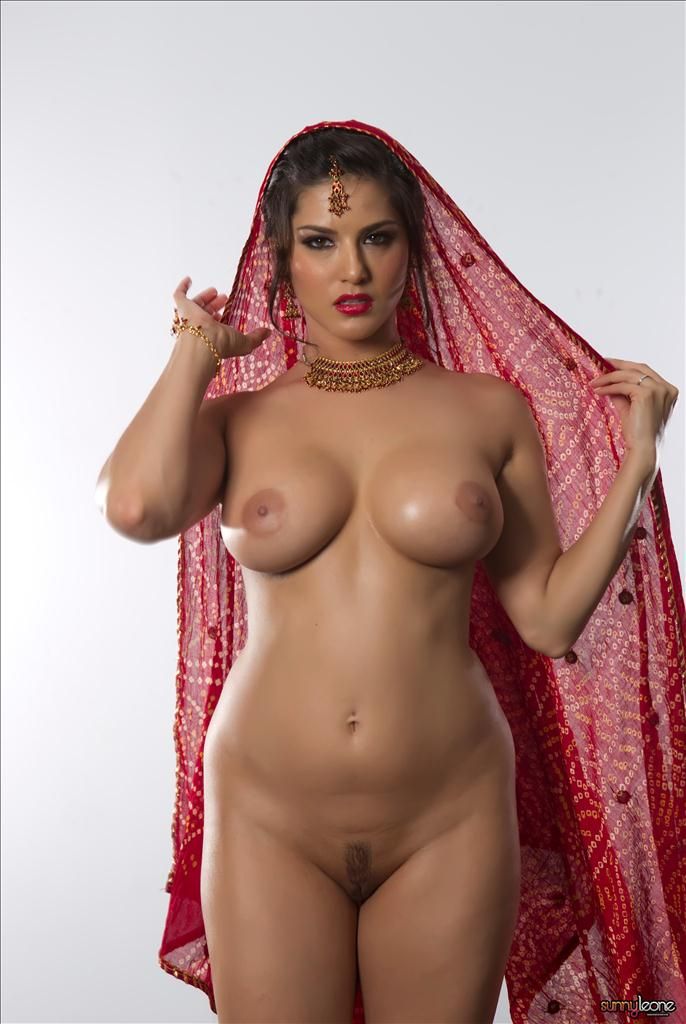 Sunny Leone Red Dress Nude Gallery With Indian Style