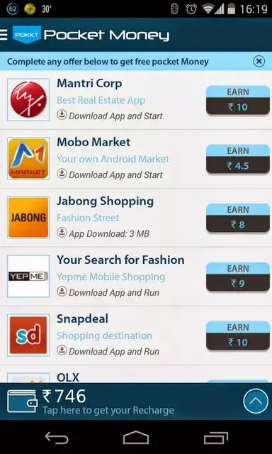 free mobile recharge android app