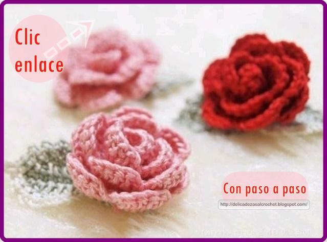Delicadezas en crochet Gabriela: Rosas en ganchillo