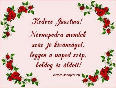 Jusztina névnap - Szeptember 26