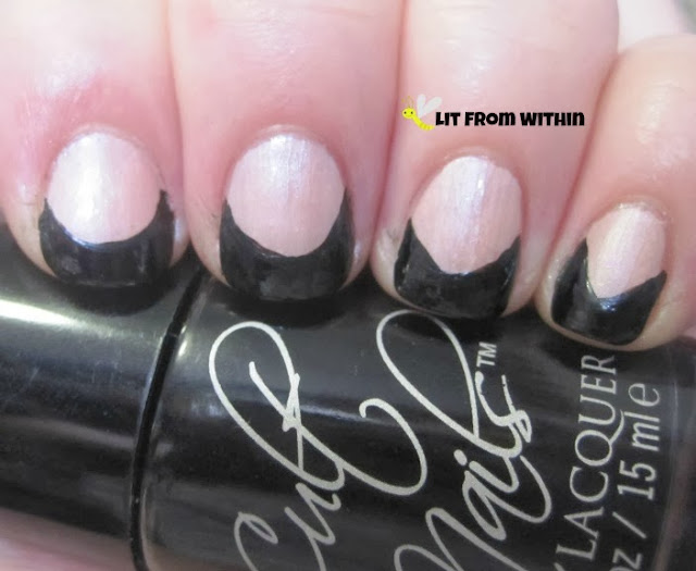 Going for the Goth French tip with Cult Nails Nevermore