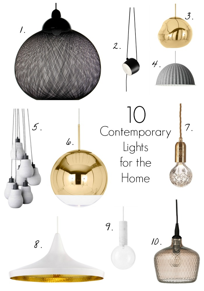 10 contemporary pendant lights houseology