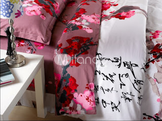 4-pc Classical White And Red Cotton Duvet Cover Oriental Bedding Set
