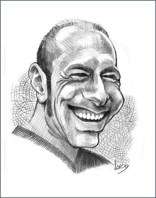 dessin caricature gars Italien (hachures croisées)