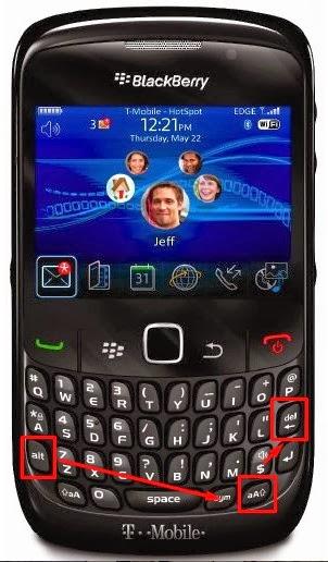 cara restart hp blackberry curve gemini tanpa melepas bateray