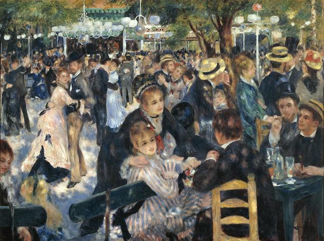 """Picture of """"Bal du Moulin de la Galette"""" by Renoir, 1876"""
