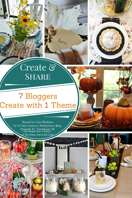 Fall tablescape and table setting ideas that can be used in any type of home decor style. Fall DIY's on a budget.