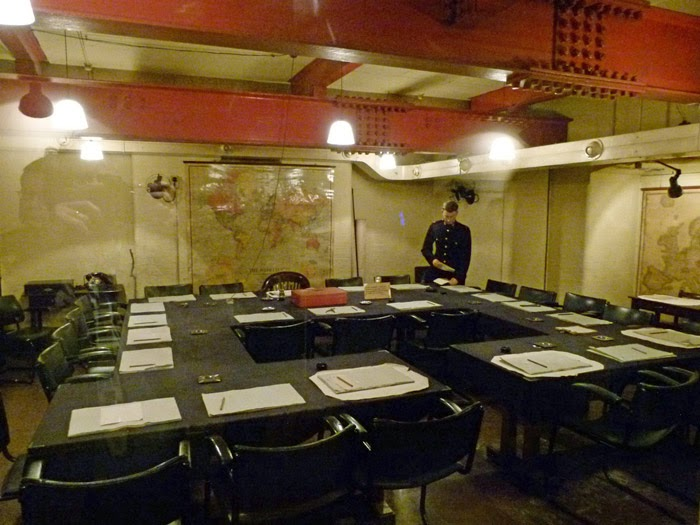 Cabinet War Room, World War Two, underground shelter, government