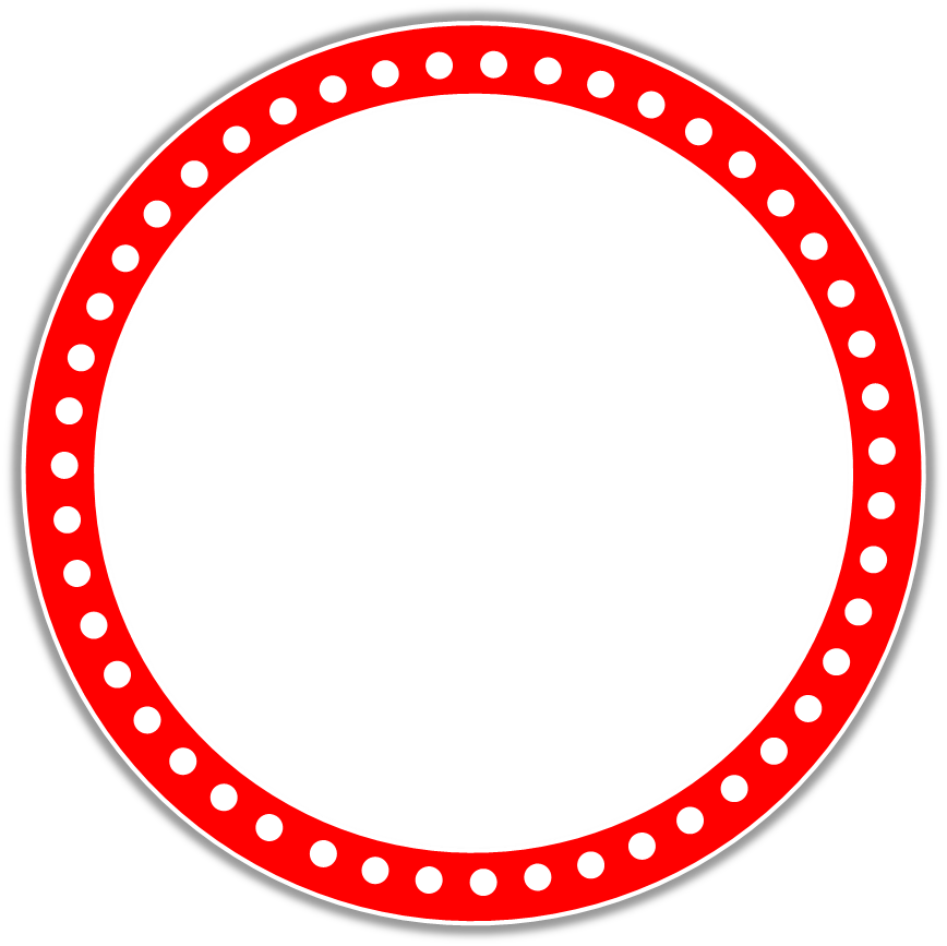 Red Circle Border Design Cute Red Circle Border
