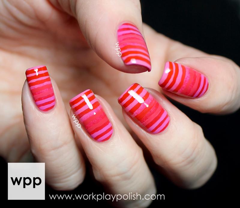 Lacquer Legion Reinvention Gradient OPI Valentine Nail Art
