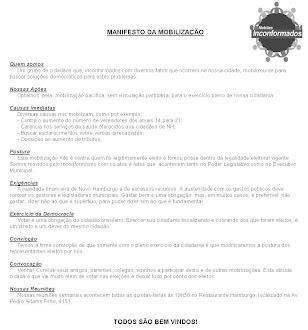 MANIFESTO DA MOBILIZAÇÃO - Clique abaixo