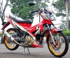 vixion modifikasi menggunakan pelek jari Satria Fu Modif Pelek Jari-Jari  modifikasi Honda beat velg jari Modifikasi pelek jari ala thailand