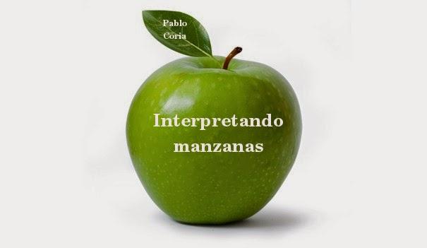 """Interpretando manzanas""  por Pablo Coria"
