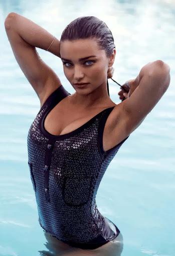 Miranda Kerr topless Harpers Bazaar Australia Magazine January February 2016 photos