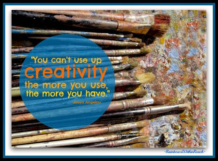 Maya Angelou Quote on Creativity {from Slideshare on Creativity by Debbie Clement}