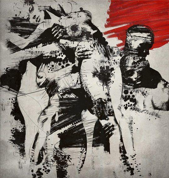 Brano Hlavac (gartier) deviantart ilustrações cores psicodélicas colagem mulheres sensuais