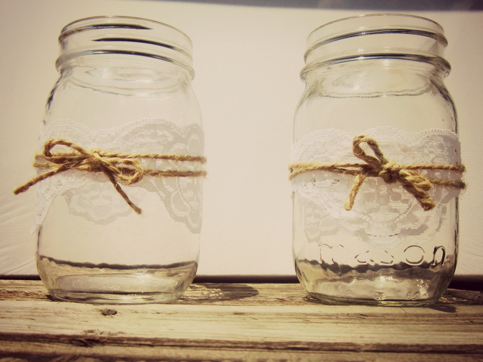 Miss Yellow Shoes Wedding Diy Mason Jars