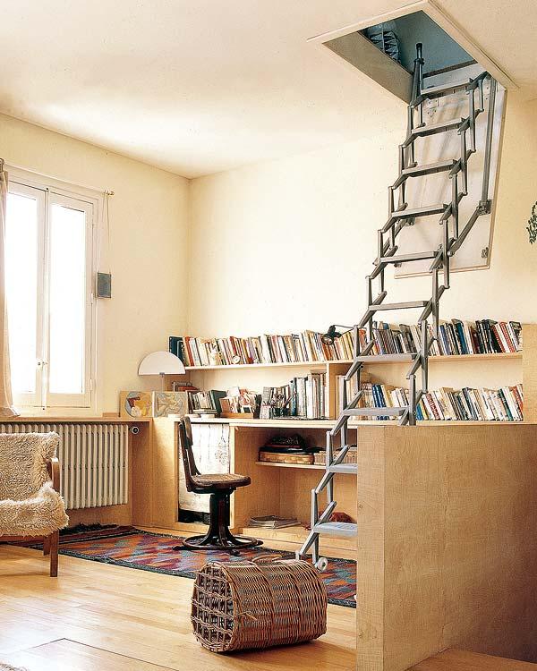 Escaleras para espacios peque os cocinas modernass for Escaleras modernas para espacios pequenos