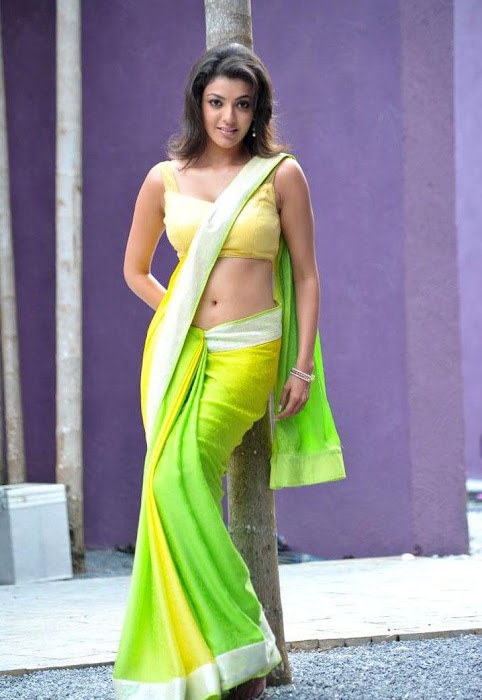 kajal agarwal test saree in business man actress pics