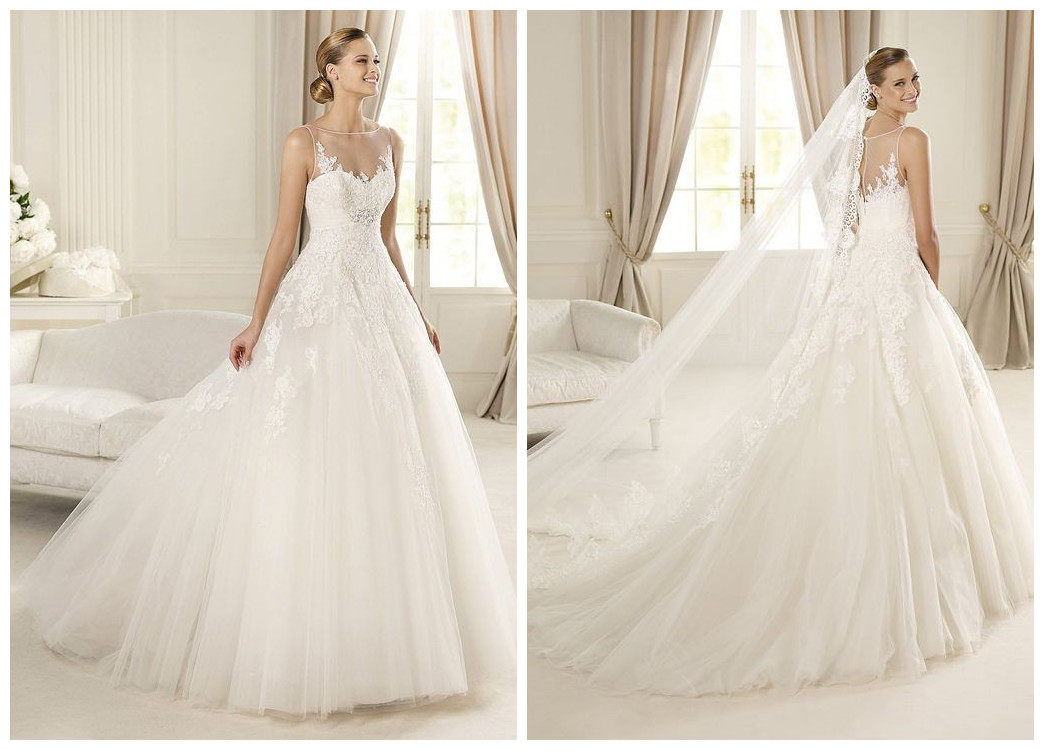 Whiteazalea elegant dresses lazaro 2013 elegant bridal for Elegant ball gown wedding dresses
