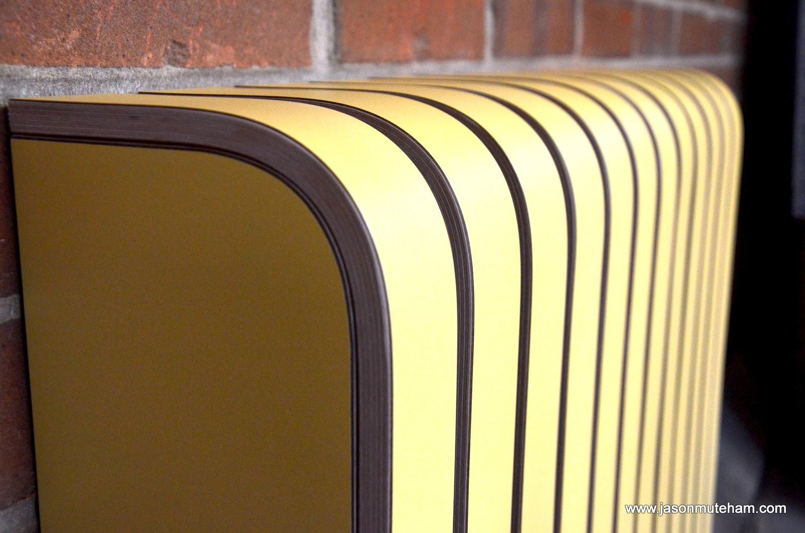 Designer Laminated Radiator Cover Saffron