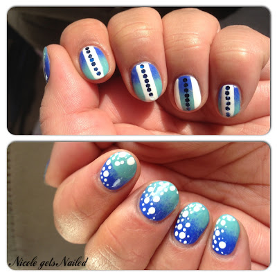 Blue Gradient with White Strips and Glequins
