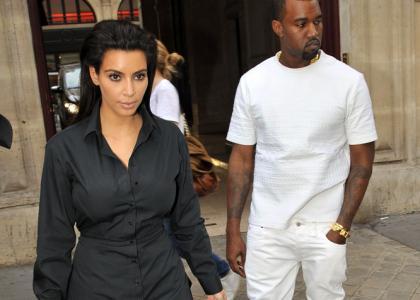 Kim Kardashian & Kanye West: Contrasting Parisian Lovers » Gossip