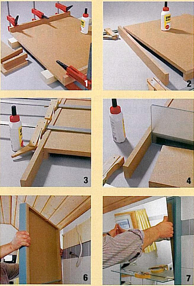 Estantes De Pared Para Baño:Carpintería: Espejo Para el Baño con Estantes