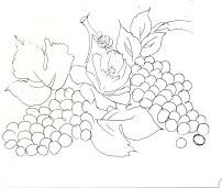 uvas e rosas